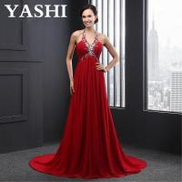Buy cheap Halter Lace up Beading Sleeveless Evening Dress (SL2012) product