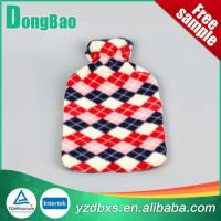 China Hot Water Bottle With Plush Cover Printed on sale