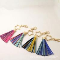 Buy cheap Colorful South Korea Velvet Fringe Keychain With Star Charm product