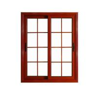 Buy cheap Window Wood color aluminium window grill design windows from wholesalers