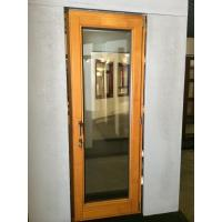 Buy cheap Sound insulation single pane casement wooden doors from wholesalers
