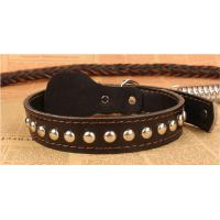 Buy cheap Adogo Black Brown Leather Dog Lead with Adjustable COLLAR (Collar 37-57cm & Lead 120cm) product