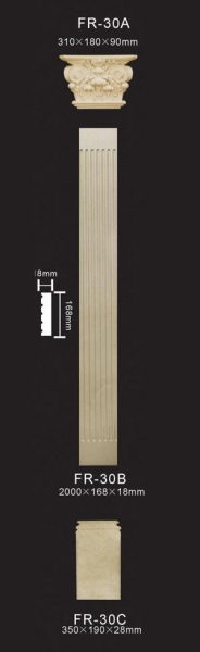 Polyurethane Decorative Columns Square Columns Of