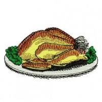 Buy cheap Cooked Turkey Dinner Embroidery Design product