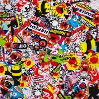 Buy cheap Sticker Bomb Cartoon Skulls Pattern Water Transfer Printing Hydro Graphics Film GWAS001 product