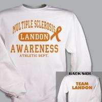 Personalized Multiple Sclerosis Awarness Athletic Dept. Sweatshirt