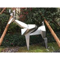 Buy cheap Garden Sculptures High-Gloss Deer Steel Sculpture As Outdoor Decoration from wholesalers