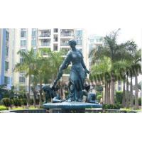Buy cheap Large Outdoor Fountains Western and Loving Copper Figurine Statues product