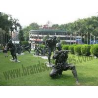Buy cheap Big Powerful Soldiers Bronze Outer Statues for Lawn Ornaments product