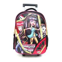 Monster High Backpack with Wheels for Girls Kids Trolley Bag Character Suitcase on Wheeled