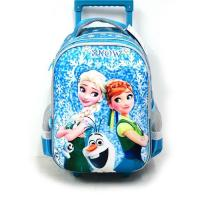 China Childrens Disney Luggage School Backpack with Wheels Kids Rolling Backpack Girl Bags for School on sale