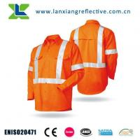 China High Visibility Class 3 Long Sleeve Reflective Safety Work Shirt wholesale