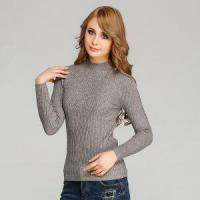 Buy cheap Elastic Bodycon Knitted Pullover Sweater Angora Like Warm Ribbed Knitwear for Women from wholesalers