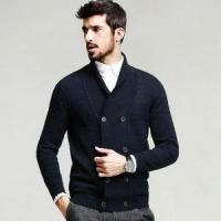 Buy cheap New Design Computer Pattern Sweater Casual Overlapped Placket with Button Men from wholesalers