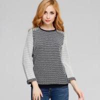 Buy cheap Latest Combed Cotton Jacquard Sweater Computer Knit Pullover for Women from wholesalers