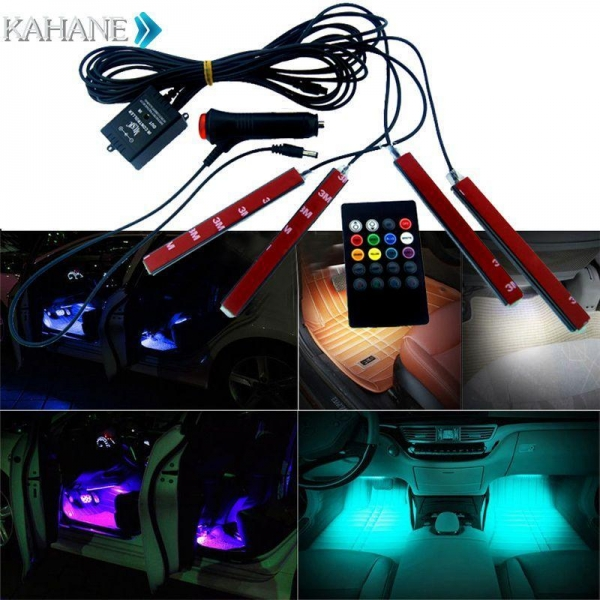 interior accessories car rgb led strip light music control. Black Bedroom Furniture Sets. Home Design Ideas
