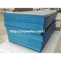 Buy cheap extrusion waterproof HDPE sheet blue color PE300 from wholesalers