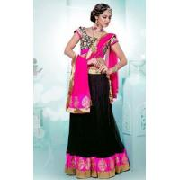 Buy cheap Lehenga Pink & Black Designer Lehenga - DIF 32395 product