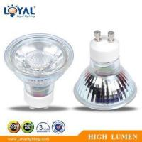 Buy cheap High Efficiency IP20 Indoor No Glare Bridgelux COB 5W Gu10 Glass LED Spot Light product
