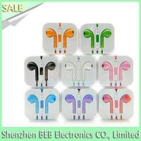 China iPhone earphone with mic and volume control on sale