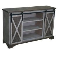 Buy cheap Richland Grey Two Tone Sliding Door Media Console 54x16x35 product