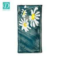 Buy cheap New design fancy lady purse cute flower painting leather wallet money clip purses from wholesalers