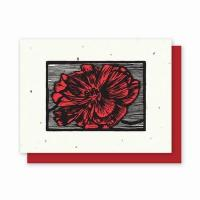 China Grow-a-Note Woodcut Letterpress Poppy wholesale