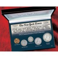 China NEW YORK TIMES TITANIC 1912 COMMEMORATIVE COIN COLLECTION on sale