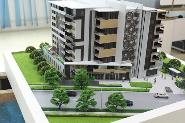 Quality Real Estate Mini Architecture Models , Scale Apartment 1:100 House Model for sale