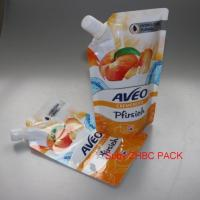 Buy cheap liquid food packing bottom gusset pouch Plastic Fruit Juice Bag with Spout product