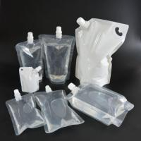 Buy cheap Liquid Packaging Juice Beverage Plastic Clear Stand Up Spout Pouch product