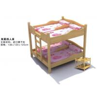 China Wholesale High Quality Kindergarten Kids Wooden Bunk Bed for Four Children on sale