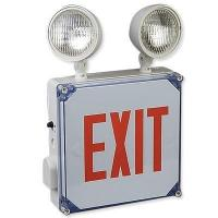 Buy cheap Big Beam Wet Location LED Exit Sign with Emrgency Lights product
