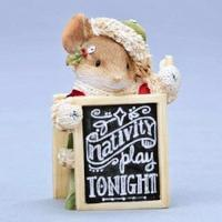 China Mouse Figure - Mouse w/Nativity Sign on sale