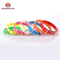 China Colorful TPU coated dog collar decorated with metal dots wholesale