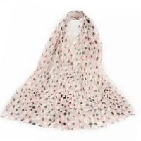 Cute Color Wave Pink Thin Long Scarf YQ2006