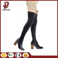China purple faux suede long women winter boots on sale