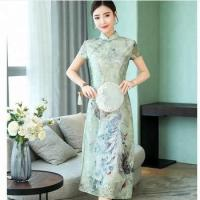 new style embroidered elegant women chinese dress qipao20 Set/Sets