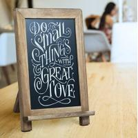 Wooden Chalkboard and Crafts Rustic Wooden Framed Standing