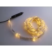 Silver wire Warm White Multi stand string light with UL adapter