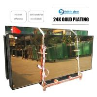 High quality curtain wall insulating glass is coated with 24k gold and other colors,