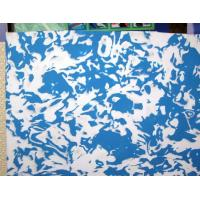 Camouflage EVA of blue and white