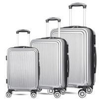 Fashion Suitcase travel Luggage bags cases abs spinner travel trolley Case