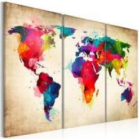 China World Map Canvas Wall Painting on sale