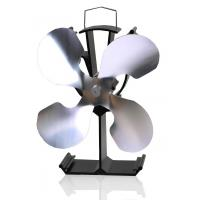 China Heat Powered Stove fan wood burning stove fan-4 blade in nickle on sale