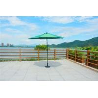 China PAU-002-G Outdoor Green Garden Market Beach LED Umbrella with Solar Panel on sale