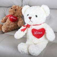high quality 45cm valentine's day plush teddy bear with red heart
