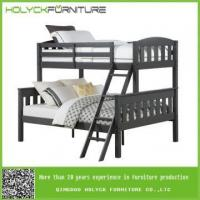 China removable wooden bunk beds with ladder for three kids on sale