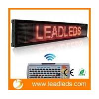 Buy cheap Leadleds 40x6.3 Inches Remote LED Scrolling Display Board for Business - Red Message product