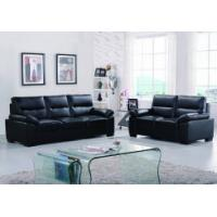 Buy cheap Leather sofas Classical black leather sofa with adjustable headrest product